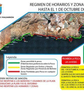 Zonas y Horarios de Pesca Mazarron 2018